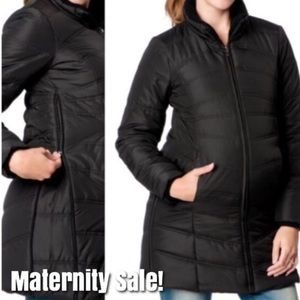 Motherhood maternity puffer coat